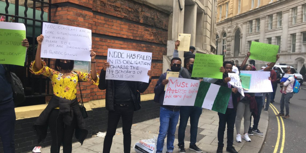 naija students protest for london