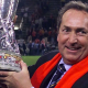Gerard Houllier with the UEFA Cup after Liverpool defeated Alaves 5-4 under the Golden Goal rule in 2001[Image Source:Sky news ]