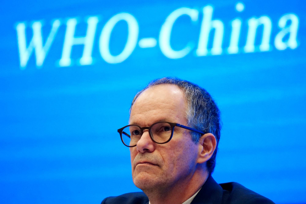 Peter Ben Embarek, a member of the World Health Organization (WHO) team tasked with investigating the origins of the coronavirus disease (COVID-19), attends the WHO-China joint study news conference at a hotel in Wuhan, Hubei province, China February 9, 2021. REUTERS/Aly Song